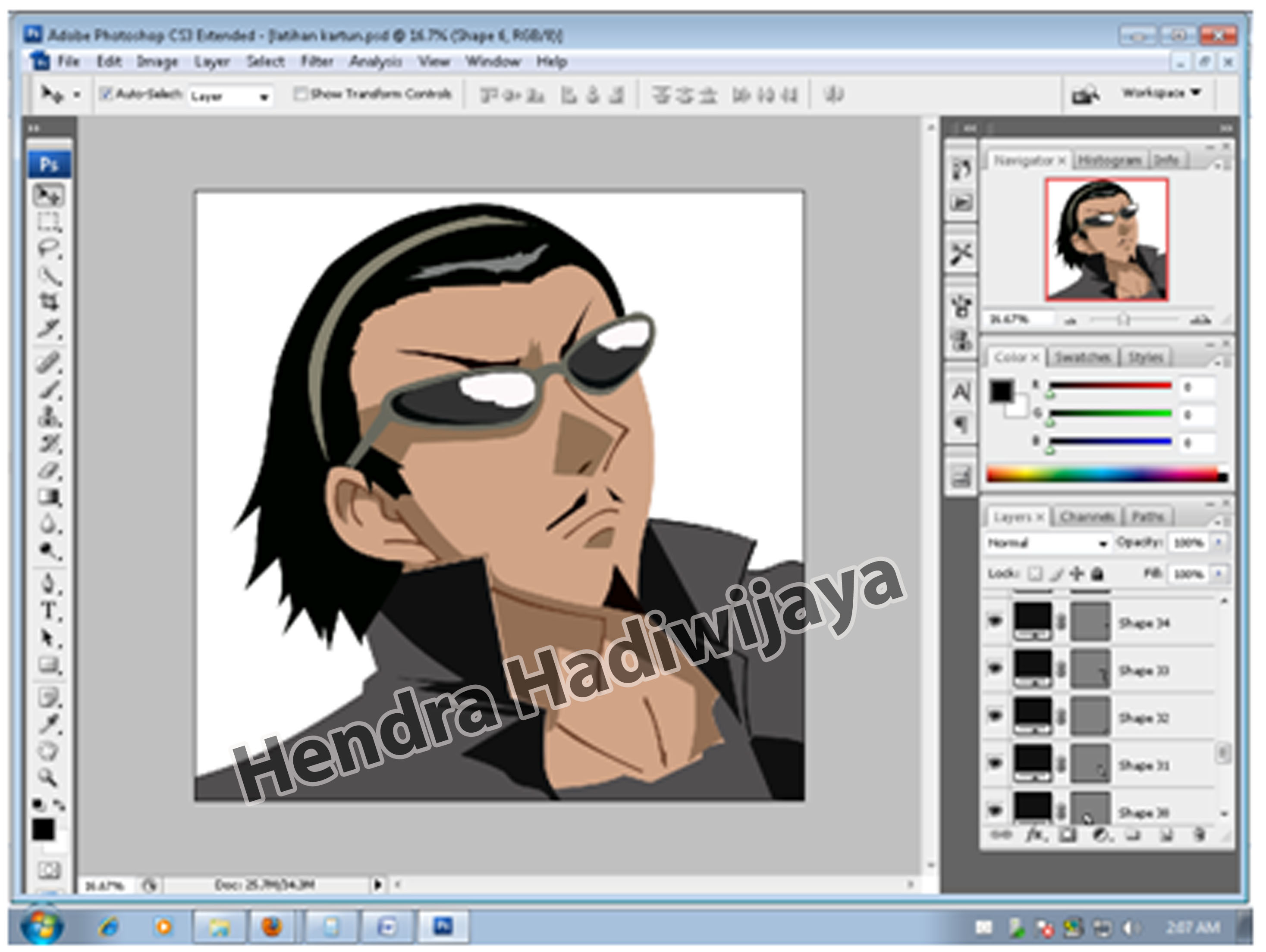 Membuat Kartun dari Program Adobe Phtoshop